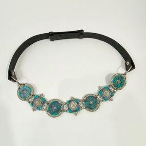 VINTAGE CHICOS Boho Silver Medallion Swirl Belt